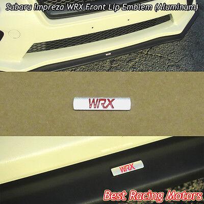 (WRX) Badge Logo Emblem (Aluminum) FIts Subaru Impreza Front Bumper Lip
