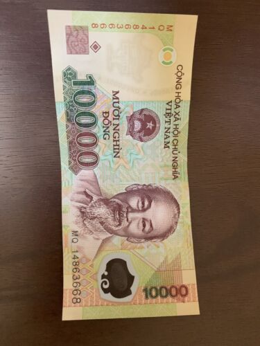 VND 10,000 10.000 1 Single Bank Note VIETNAM 1 x 10000 DONG POLYMER BANKNOTE