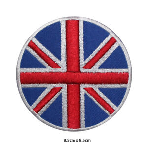 UK-National-Flag-Round-Embroidered-Patch-Iron-on-Sew-On-Badge-For-Clothes-etc