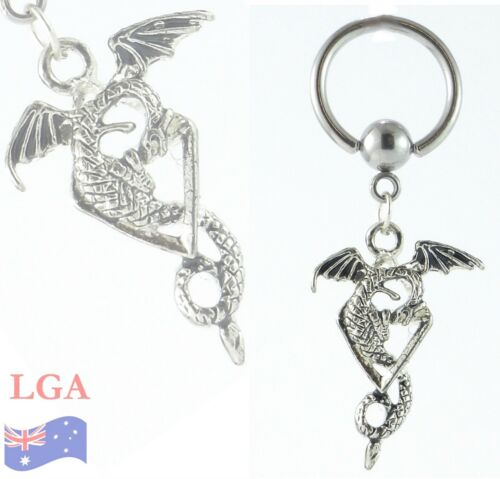 1  x Dragon Dangle CBB Captive earring nose ear FREE POST LG/'s