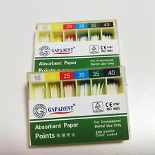 2boxes Gutta Percha Absorbent Paper Points Root Canal Endo 15 40 200pcsbox