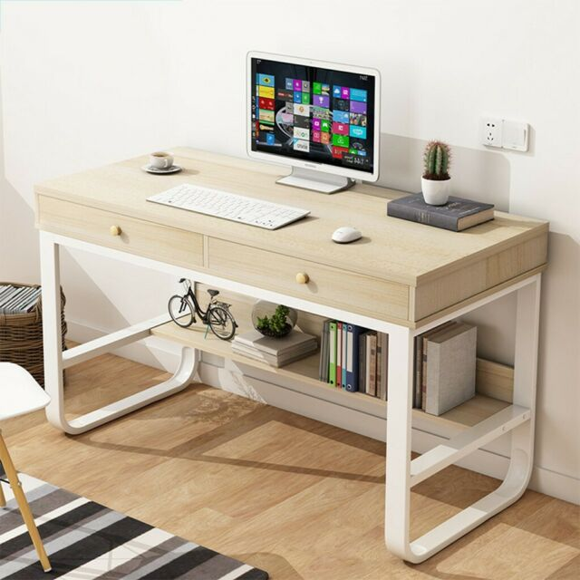 Computer Desk Pc Laptop Table Workstation Study Home Office W Shelf Drawer For Sale Online
