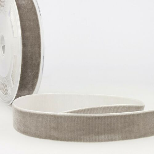 Sold per metre Light Grey Velvet Ribbon