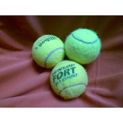 3 saubere gebrauchte Tennisbälle u.a. für Wäschetrockner,Trockner, Waschmaschine
