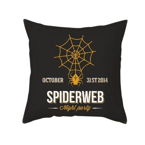 "Halloween Pumpkin Witch Waist Pillow Case Throw Cushion Cover Sofa Decor 18*18/"""