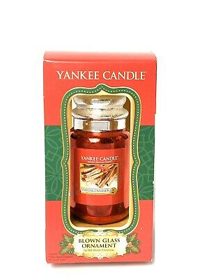 2013 Yankee Candle Red Blown Glass Christmas Ornament ...