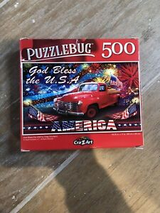 God Bless the USA,4TH July,Truck 500 Pc Jigsaw Puzzle,CraZ Art,Brand New,Sealed