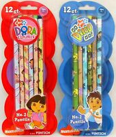 Dora The Explorer 12 Pack Pencils Go Diego Go School Nick Jr Party Favors