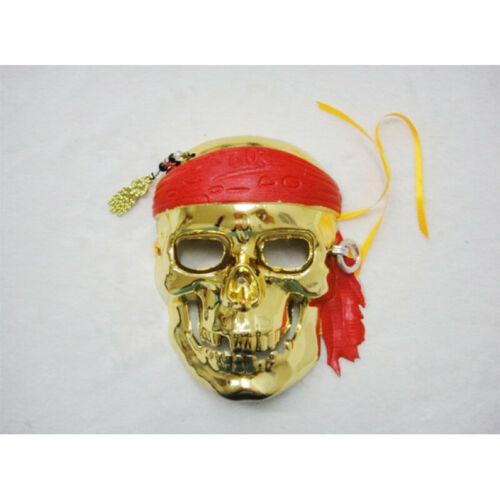 Gold Pirates Of The Caribbean Skeleton Costume Halloween Party Fancy Dress Mask