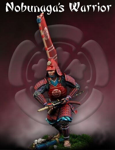 Scale 75 Samurai Nobunaga's Warrior Samurai 75mm Metal Unpainted Kit