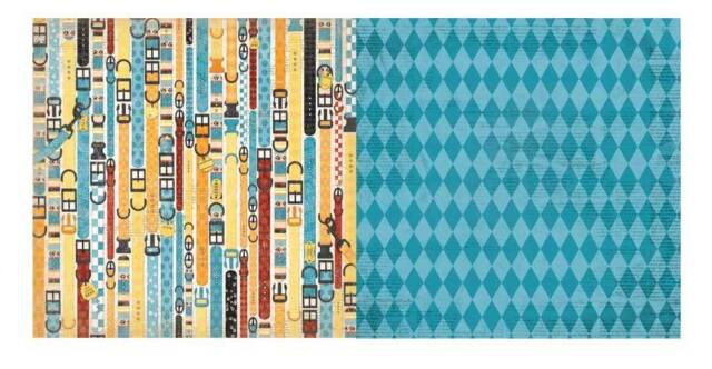 BoBunny 12x12 Scrapbooking paper, Happy Tails Collection Fur Fashion x 2 sheets