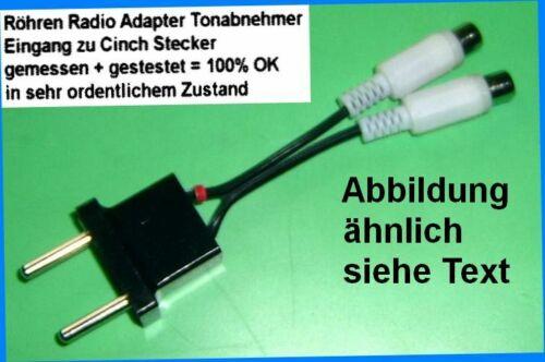 Adattatore TUBI RADIO PIASTRA giocatori tono acquirenti ta nastro TB 2x4mm /<=/> cinch RCA