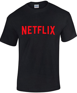 Custom T-shirt Tees Unisex 100/% Cotton Black Netflix