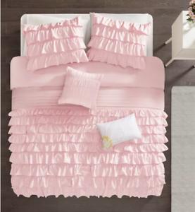 Intelligent-Design-Waterfall-Comforter-Set-Twin-Twin-XL-Blush-New-In-Bag