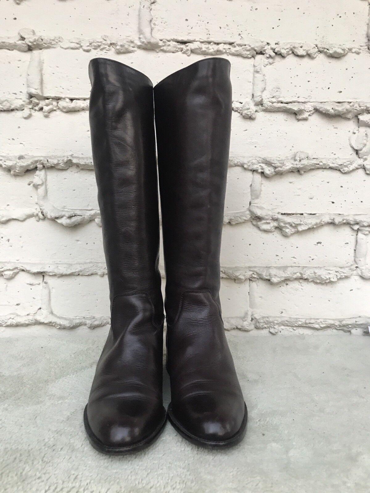 EUC Sudini Damenschuhe Braun US Leder Knee High Stiefel US Braun 9 B 462d3e