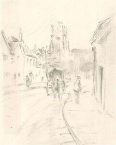 Franco Matania (1922-2006) - Mid 20th Century Graphite Drawings, Street Scenes