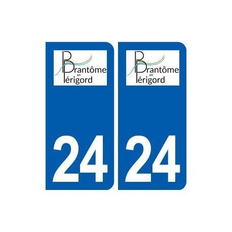24 Brantôme logo autocollant plaque stickers département arrondis