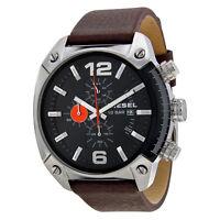 Diesel Men's DZ4204 Advanced Chronograph Black Dial Brown Leather Watch