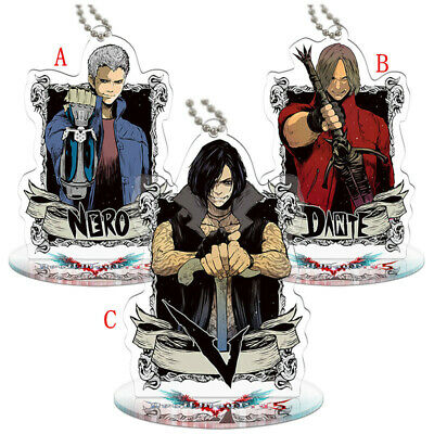 Devil May Cry 5 Dmc 5 Nero Red Queen Vergil Acrylic Keychain Keyring Stand N Ebay