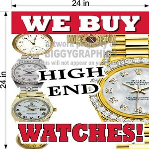 PERFORATED-WINDOW-VINYL-DECAL-2-039-X-2-039-GRAPHIC-WE-BUY-WATCHES-HIGH-END