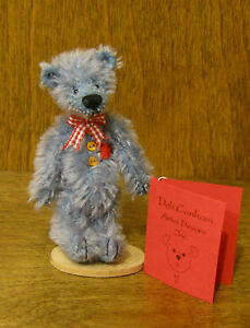"DEB CANHAM Artist Designs RIGHTY-O, Woebe Bears Coll. 3.75"" mohair LE"