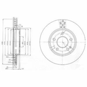 2 Stück Delphi BG3909 Bremsscheibe