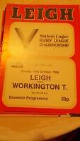 12.10.80 Leigh v Workington Town programme