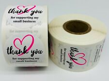 1000 15 Round Thank You For Supporting My Small Business Mailing Labels