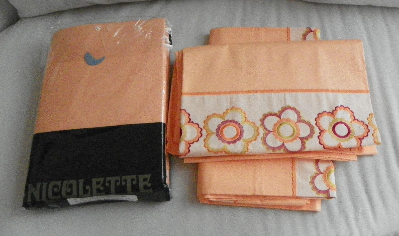 6 Spannbetttücher mit Bettwäsche Neue teilig Lachs Farbe ...
