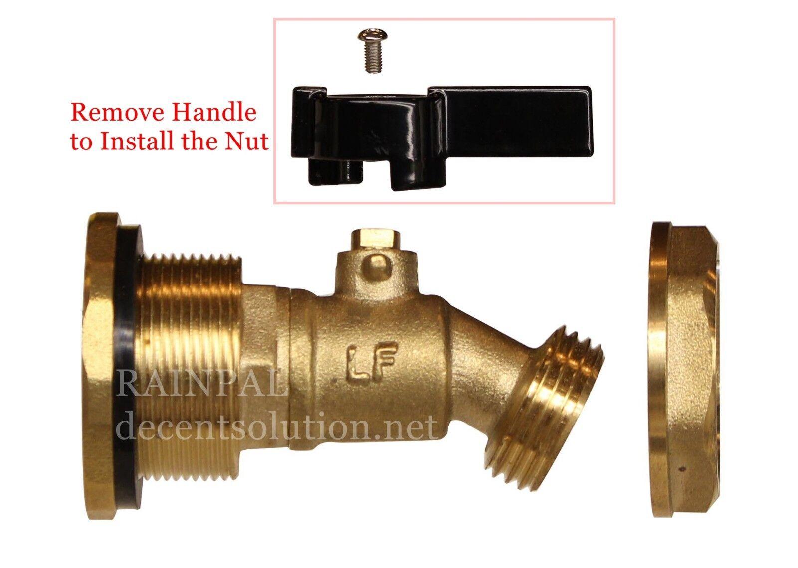 RAINPAL RBS050 Brass Rain Barrel Ball Valve DIY Spigot/Tap/Faucet/Spout(Unibody