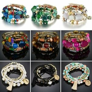Fashion-Multilayer-Natural-Stone-Crystal-Bangle-Women-Beaded-Bracelet-Jewelry