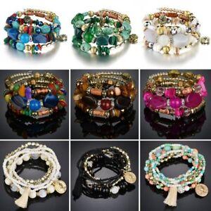 Fashion-Multilayer-Natural-Stone-Crystal-Bangle-Women-Beaded-Bracelet-Jewelry
