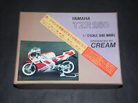 Tamiya, 1/12 Scale Cream Yamaha TZR250 Static Resin And Metal Model Kit.