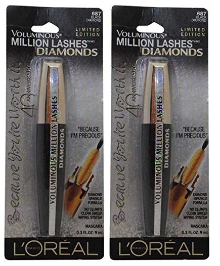 L'Oreal Paris Voluminous Million Lashes Diamonds - Limited Edition (Pack of 2)