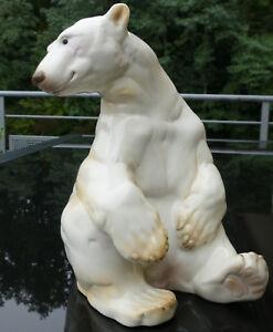 Nymphenburg-Figur-034-Eisbar-034-Entwurf-Willy-Zugel-Topzustand