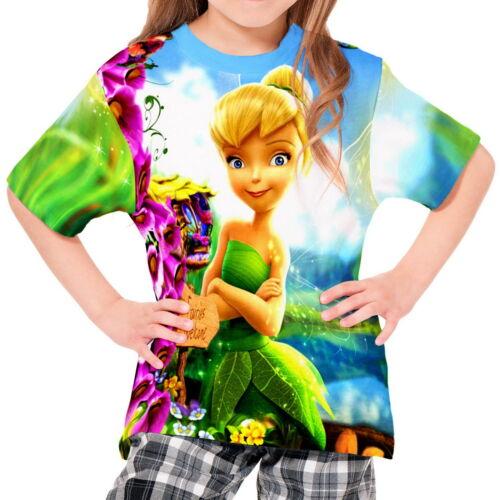 Tinkerbell Peter Pan Kinder Mädchen T-Shirt Tee wd1 agp30179