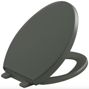 Stupendous Details About Kohler Grey Elongated Closed Front Toilet Seat Lid Cover Soft Close Hardware New Dailytribune Chair Design For Home Dailytribuneorg
