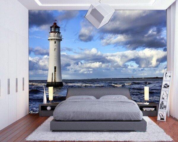 3D 3D 3D Meer Wolken Leuchtturm 73 Tapete Wandgemälde Tapete Tapeten Bild Familie DE  | Neuer Eintrag  | Umweltfreundlich  | Viele Sorten  1530a2