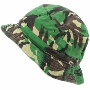 c75092a6e77 Image is loading Hat-Bucket-Fishing-Cap-Boonie-Outdoor-REVERSIBLE-CAMO-