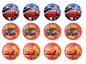 HIGH QUALITY 12 x CARS edible Cake decoration cupcake toppers A4 Icing  Wafer