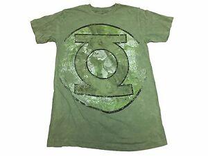 DC-Comics-Green-Lantern-Faded-Oversized-Logo-Justice-League-Men-039-s-T-Shirt-S-2XL