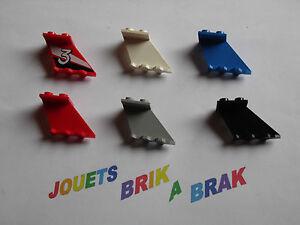 Lot lego de 1 aileron ou pilier choose color 4x2x2 ref 3479