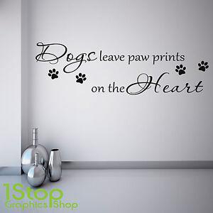 Dettagli su Cani Lasciare Impronte Delle Zampe Adesivo da Parete - Salotto  Camera da Letto