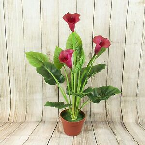 Artificial Calla Lily Potted Plant Home And Office Flowers Ebay