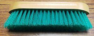 New-Showman-Dandy-Brush-Stiff-Green-Bristles-Grooming-9-034-x-2-1-2-034-Horse-Tack