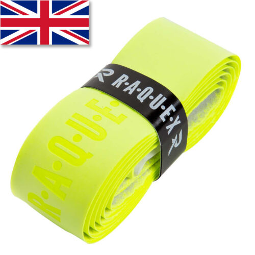 Anti Slip Tennis Squash Badminton Raquex Yellow Replacement Racquet Grip Handle