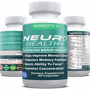 Neuro Plus Brain Health Supplement - Non-GMO/Gluten Free - Made in USA