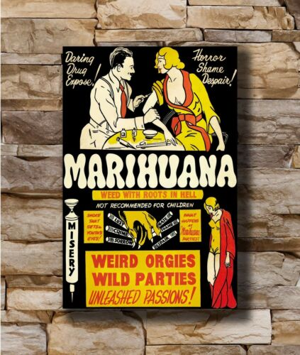 Hot Vintage 1930 against marijuana and advertising Art Poster 12x18 24x36 T-818