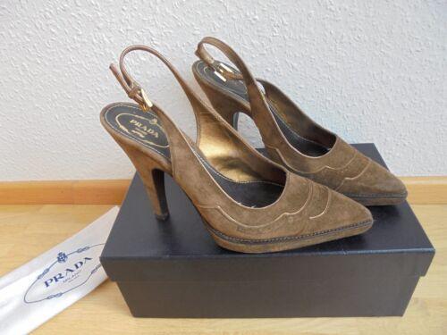 056454a3542d9 Schuhe Gr Leder High 38 Np Tasche Pumps Top Heels 550€ Prada Original Ovp  vwqP5xS71