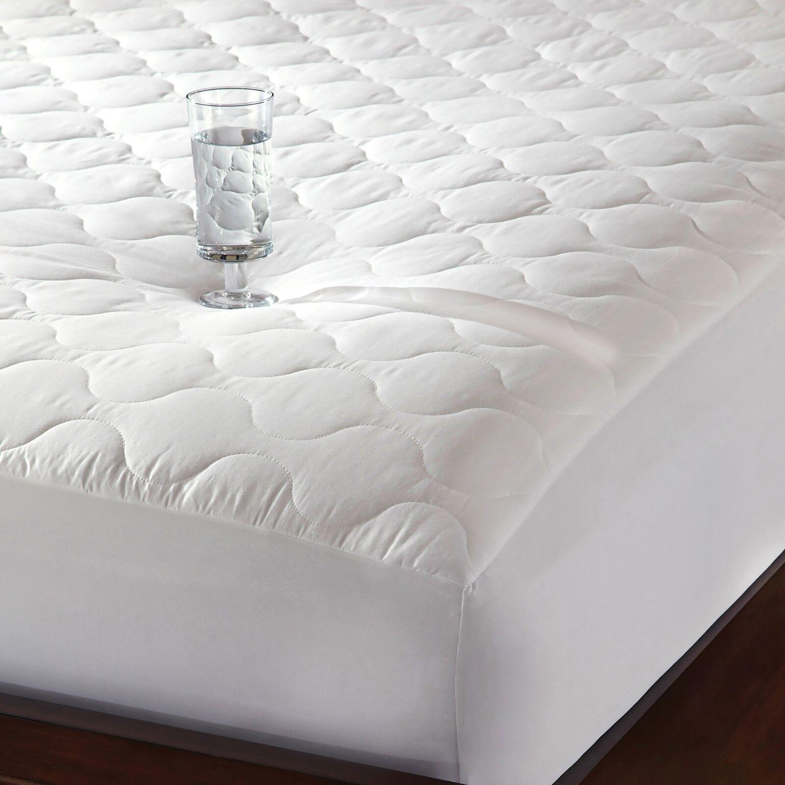 100%Cotton Quiet Waterproof Mattress Pad Mattress Protector Hypoallergenic Cal K